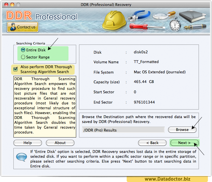 Mac DDR Professional Recovery Software