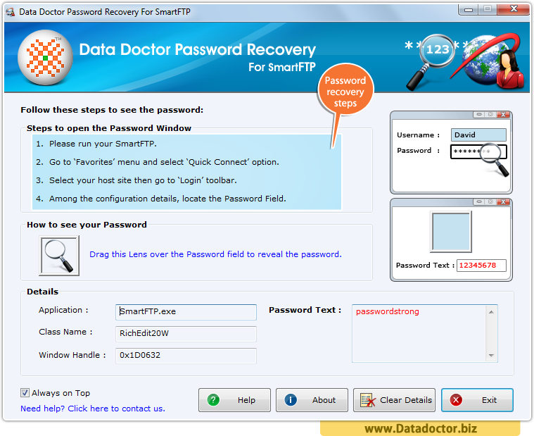 Password Recovery For SmartFTP