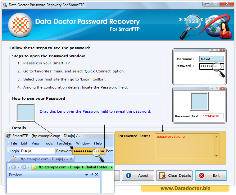 Data Doctor Password Recovery Software For SmartFTP