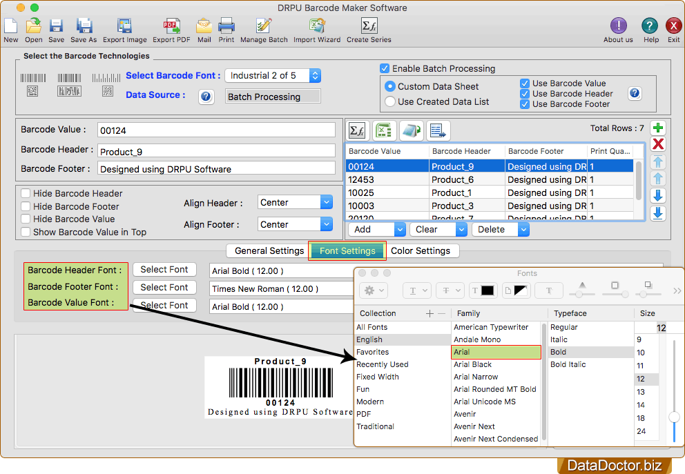 Barcode Label Maker for Mac machine