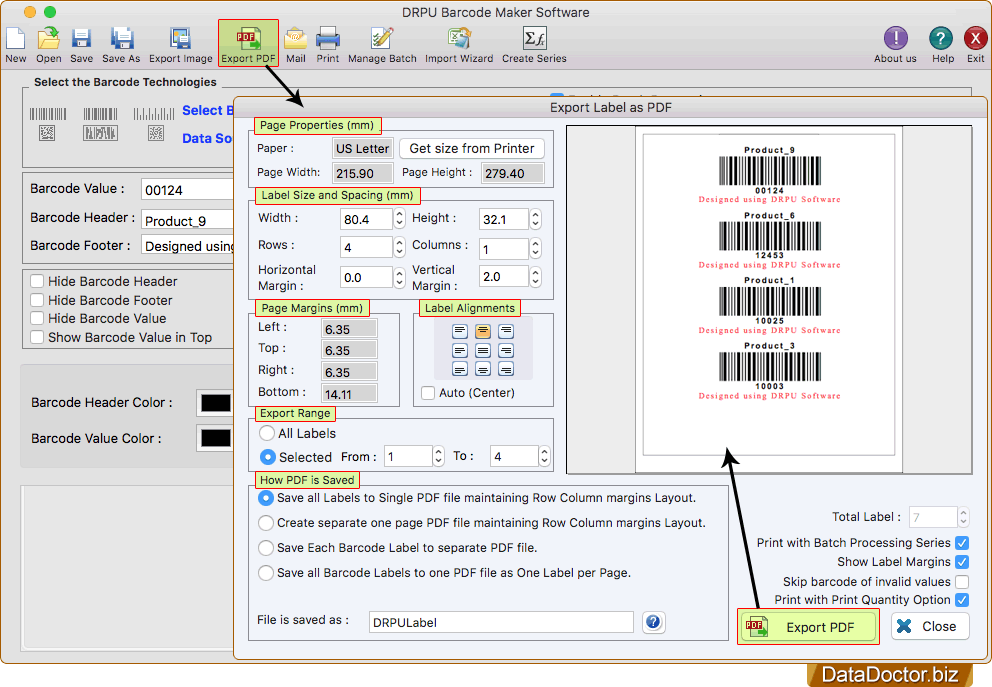 Mac barcode label maker software | generator customized