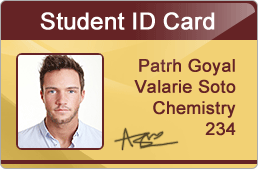 Software Student Id Cards Maker Using For Design Excel Data Students