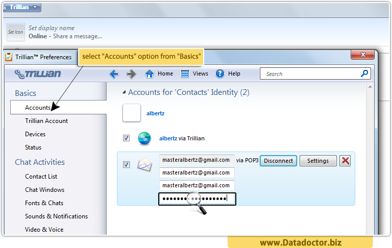 Password Recovery Tool For Trillian Messenger