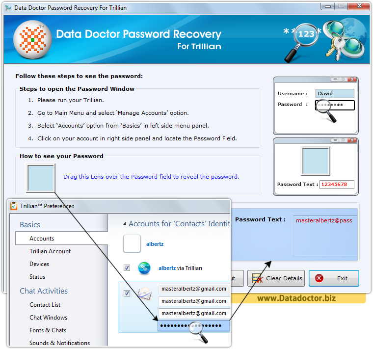 Data Doctor Password Recovery Software For Trillian Messenger