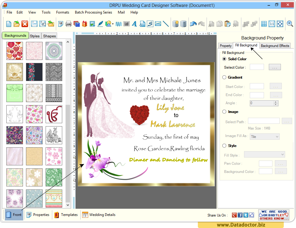Wedding card designing software design beautiful for Online designs
