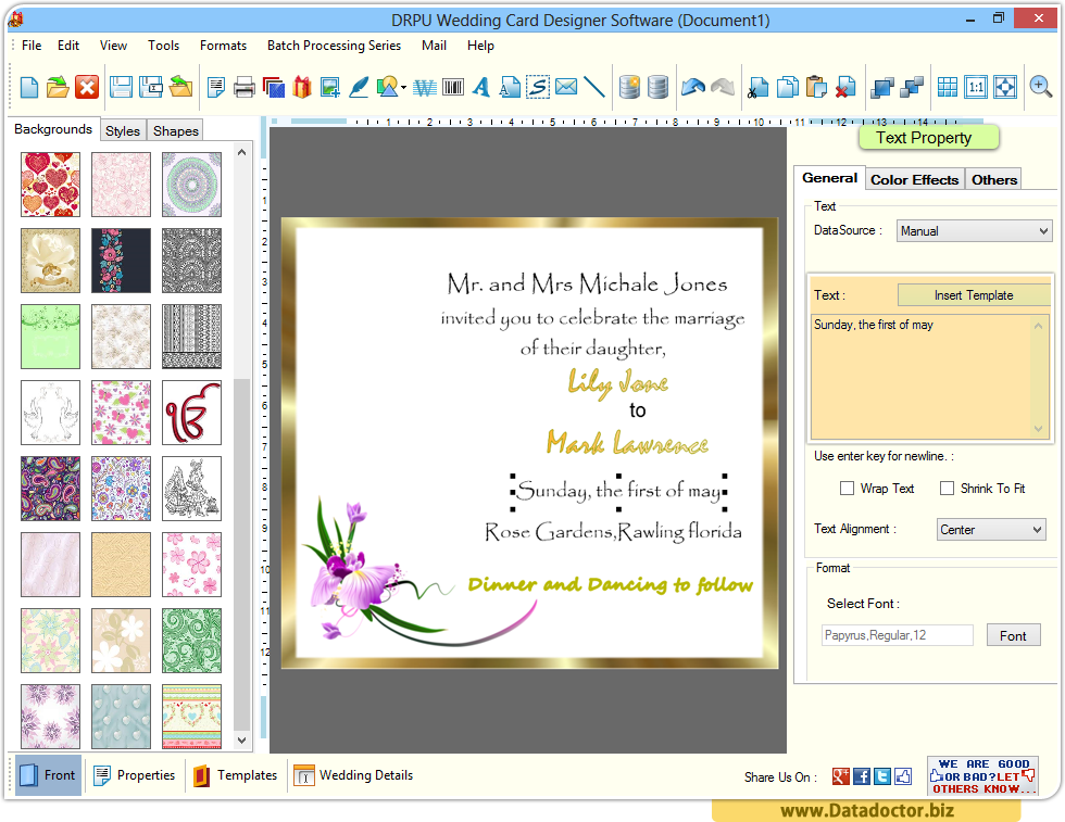 Wedding card designing software design beautiful invitation cards wedding cards maker stopboris
