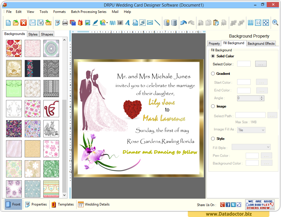 Wedding Invitation Creator Free Online: Wedding Card Designing Software