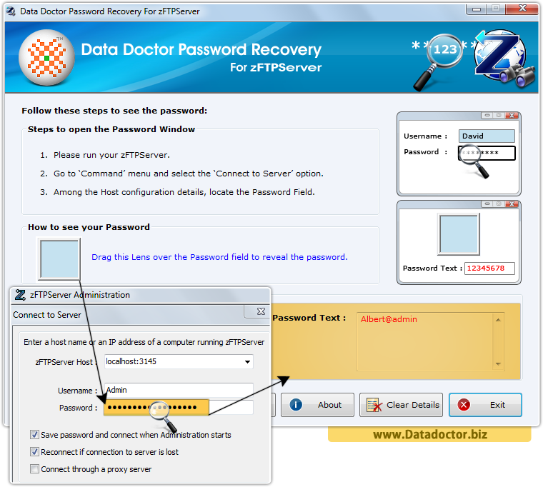 Data Doctor Password Recovery Software For zFTPServer